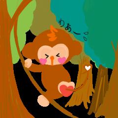 LINE スタンプ新作りリース!【動物】日常使える挨拶スタンプ【サル】