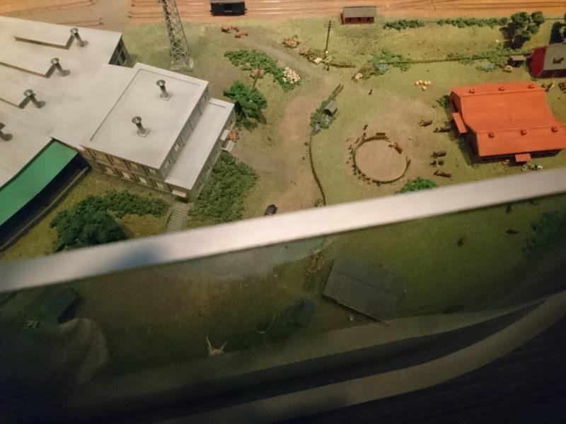 ジオラマ侵入防止の柵